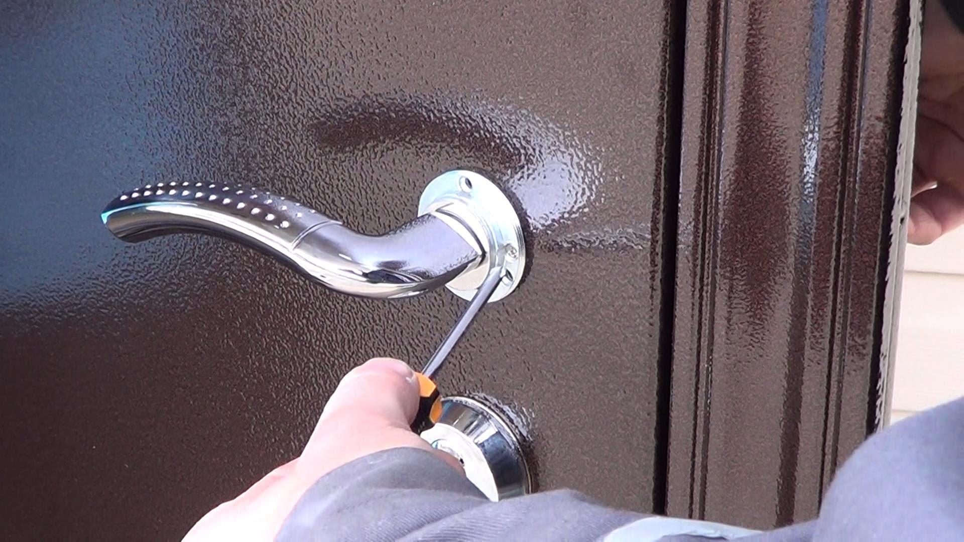 Установка металлические двери